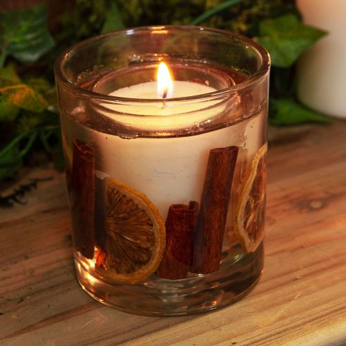 Spiced Orange Scented Candle With Dried Fruit